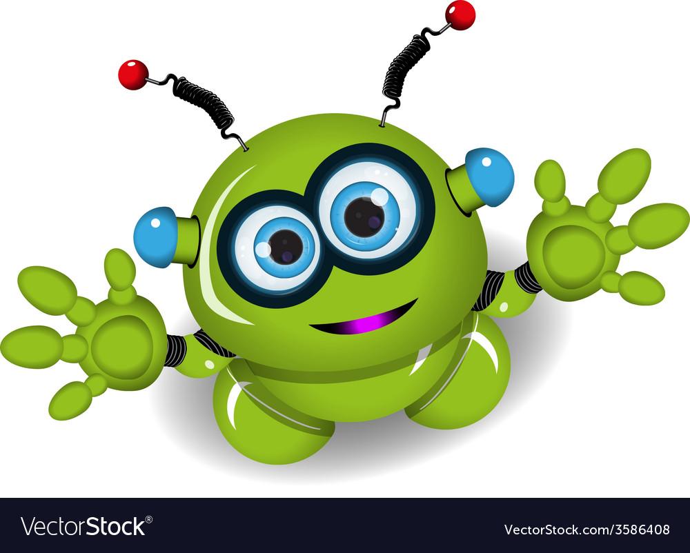 Cute green robot vector | Price: 3 Credit (USD $3)