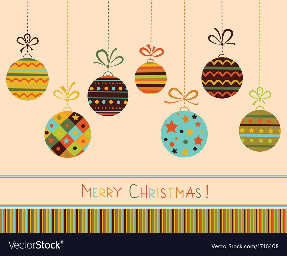 Decoration with stylized christmas balls vector | Price: 1 Credit (USD $1)
