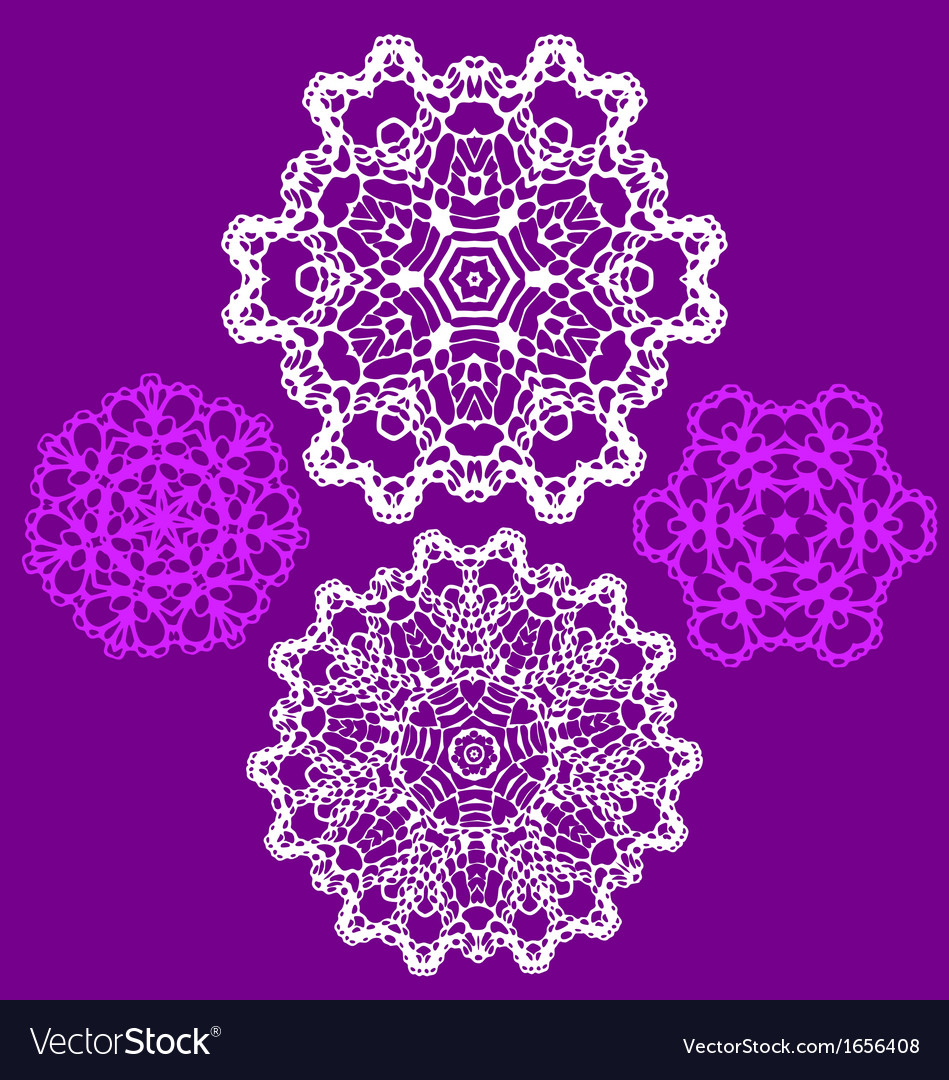 Lace doily pattern set vector | Price: 1 Credit (USD $1)