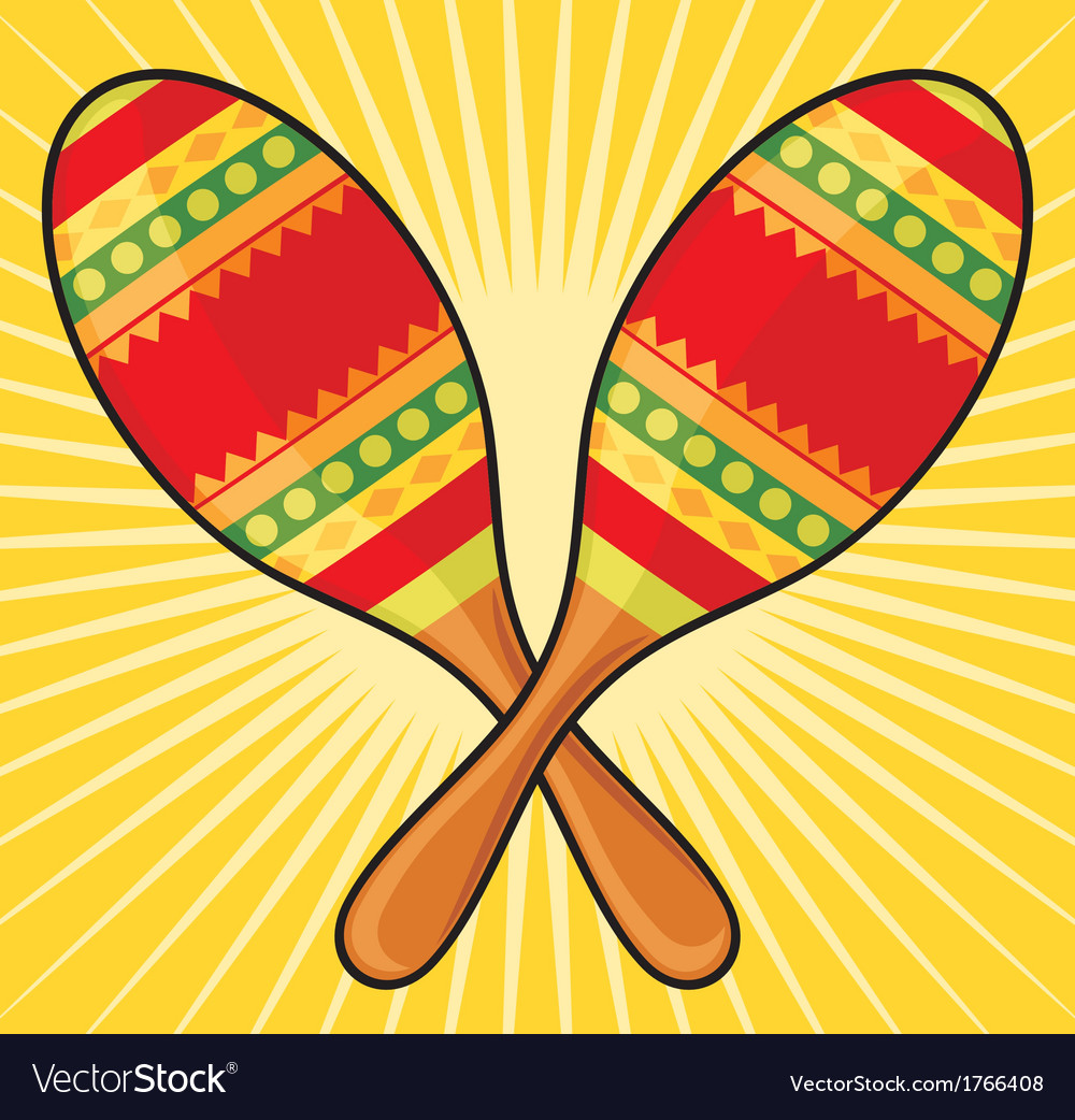 Maracas instrument vector | Price: 1 Credit (USD $1)
