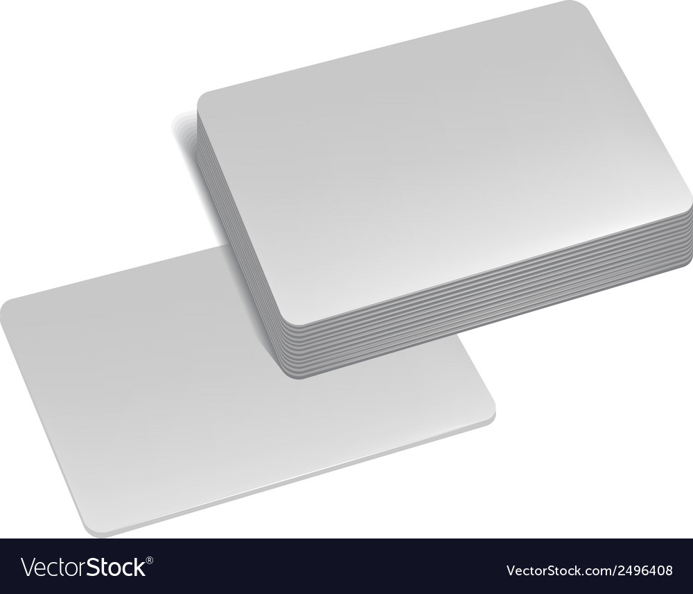Stack of business cards vector | Price: 1 Credit (USD $1)