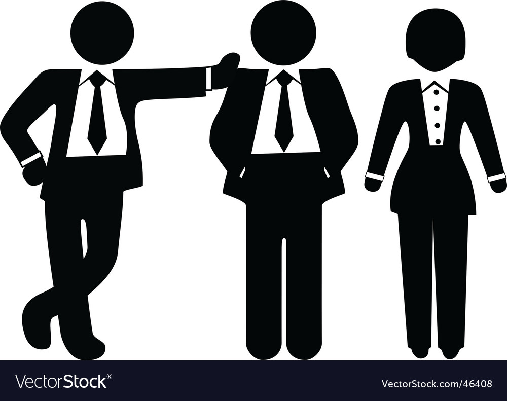 Team of 3 business people vector | Price: 1 Credit (USD $1)