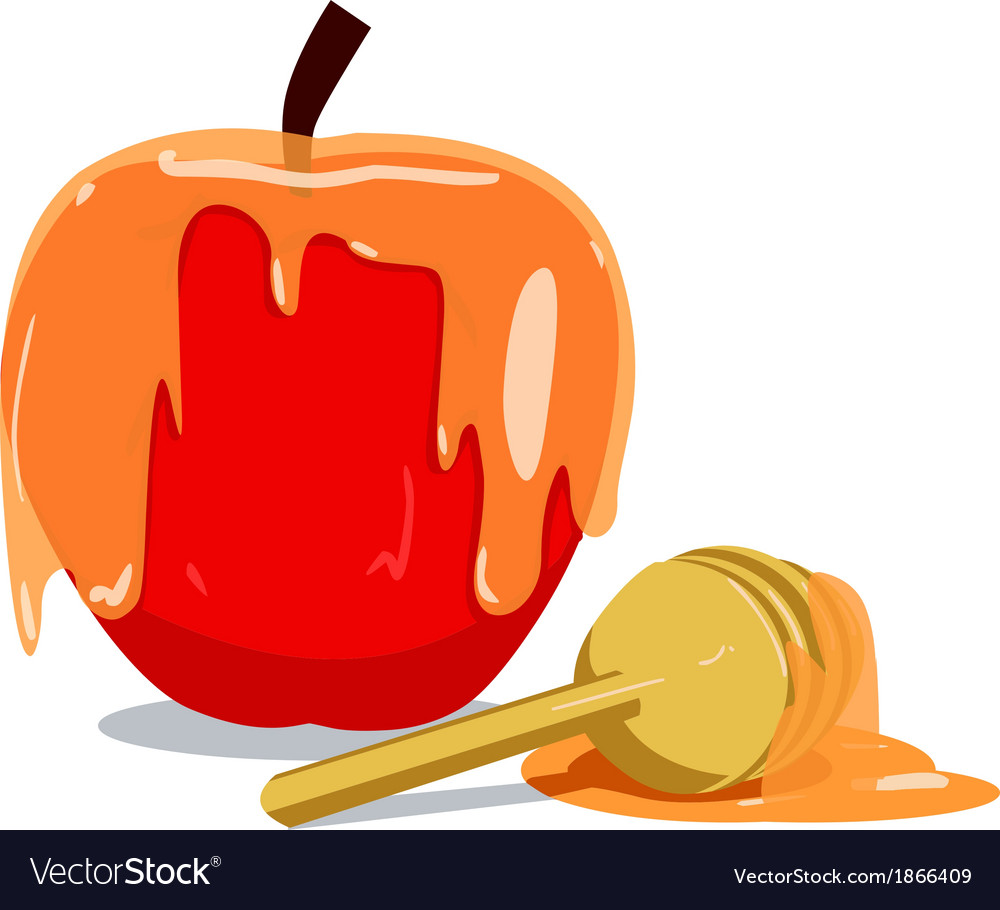 Apple and honey for rosh hashanah vector | Price: 1 Credit (USD $1)