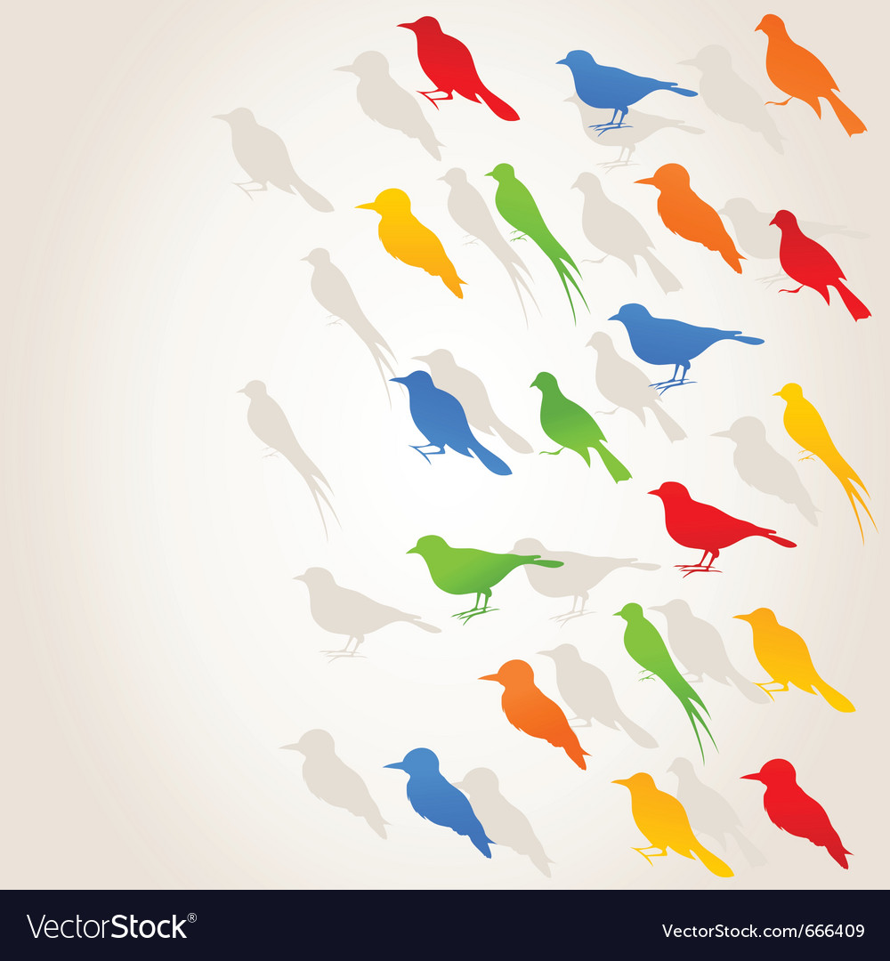 Birds flight background vector | Price: 1 Credit (USD $1)