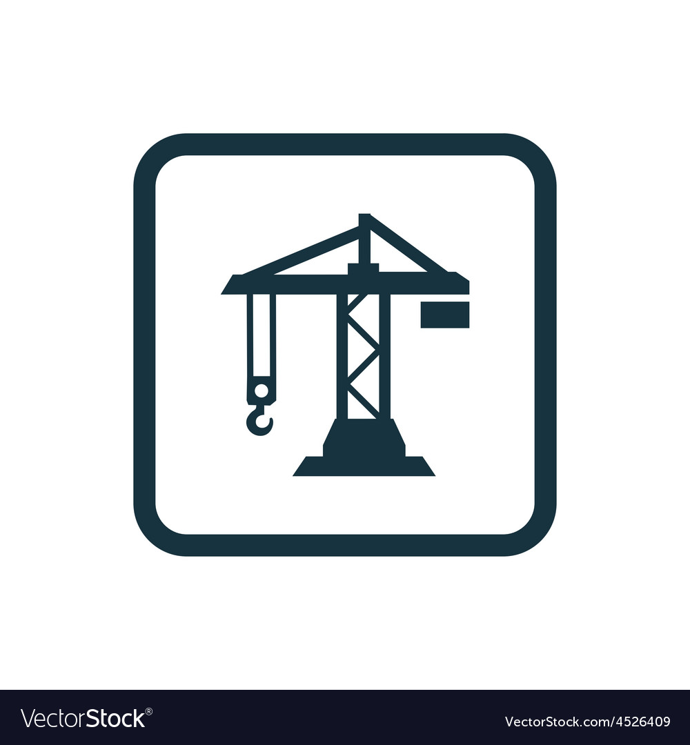 Building crane icon rounded squares button vector | Price: 1 Credit (USD $1)
