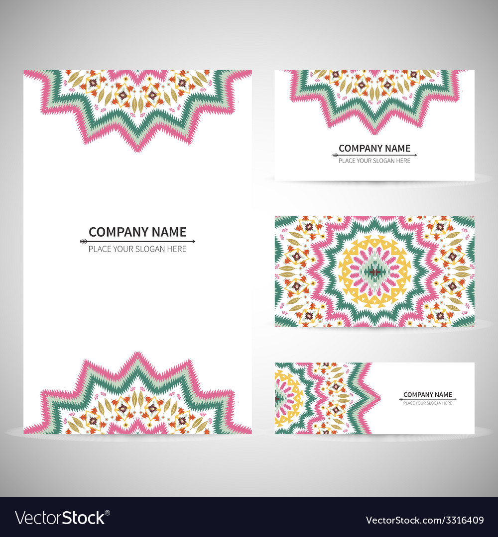 Business card template in native style vector | Price: 1 Credit (USD $1)