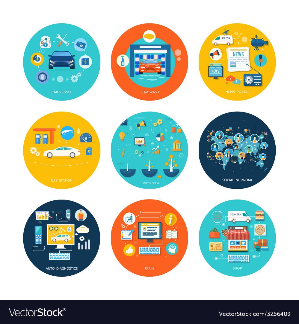 Car service car wash social media online shop vector | Price: 1 Credit (USD $1)