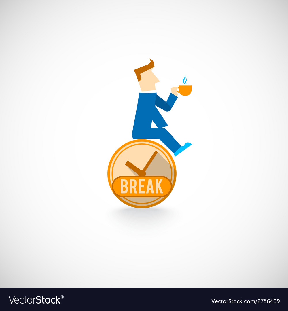Coffe break flat icon vector | Price: 1 Credit (USD $1)