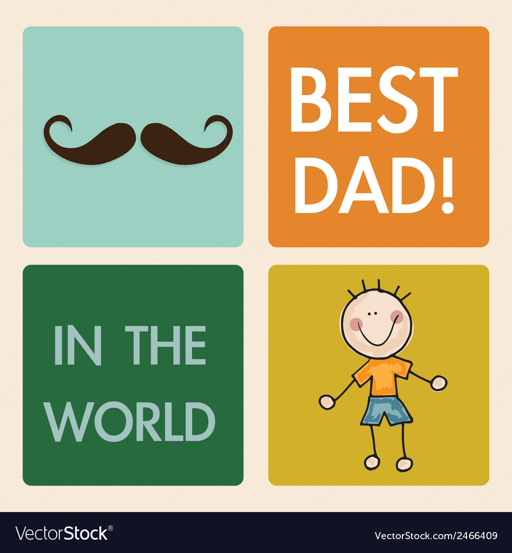 Fathers day icons and cards vector | Price: 1 Credit (USD $1)
