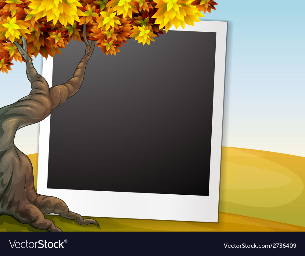 Frame with autumn background vector | Price: 1 Credit (USD $1)