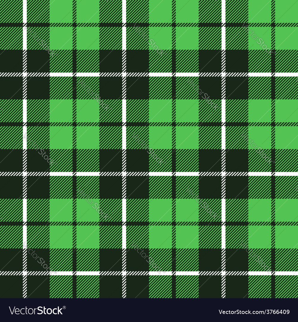 Green tartan fabric texture in a square pattern vector | Price: 1 Credit (USD $1)
