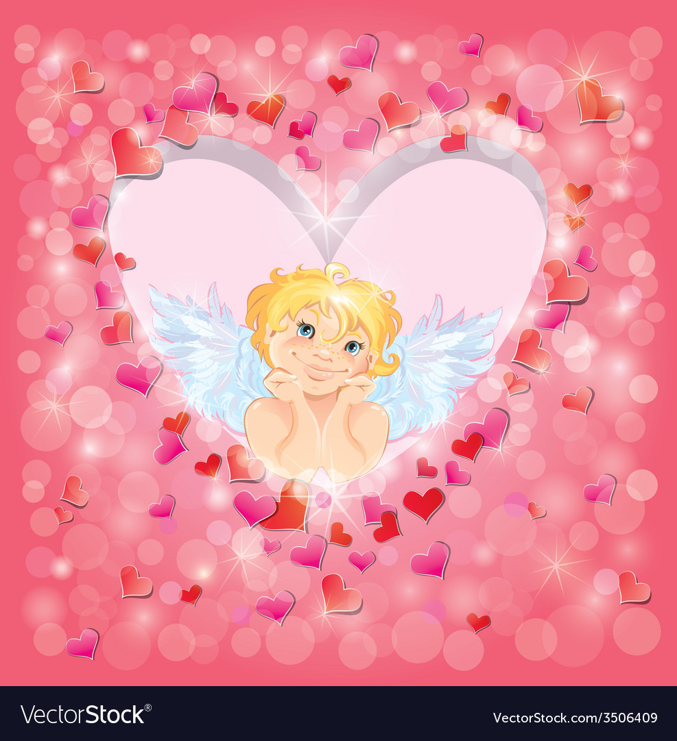 Light heart angel 380 vector | Price: 1 Credit (USD $1)