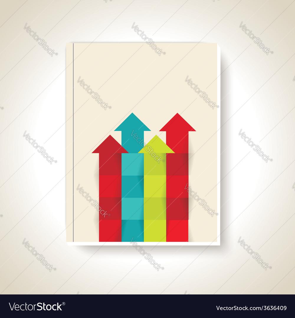 Modern brochure design with color arrows vector | Price: 1 Credit (USD $1)