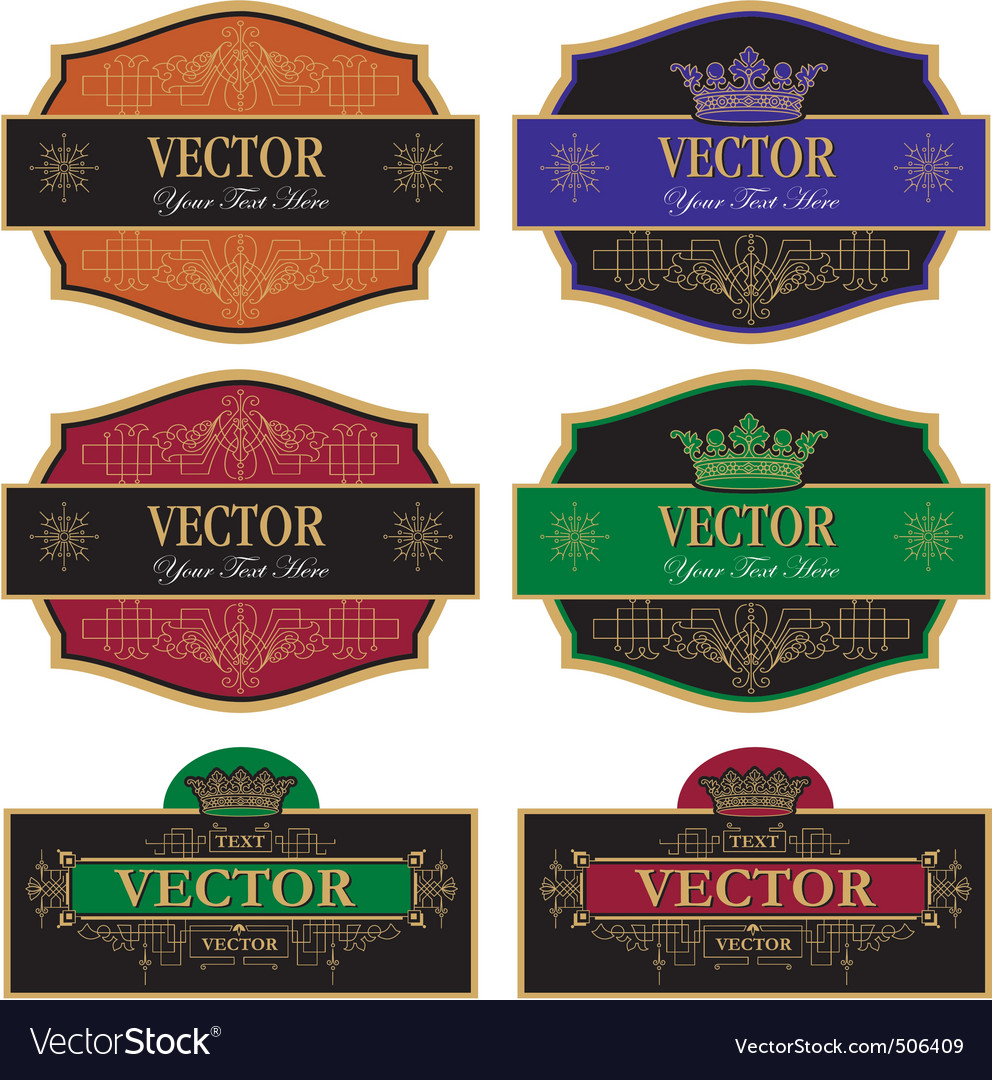 Set label vintage vector | Price: 1 Credit (USD $1)