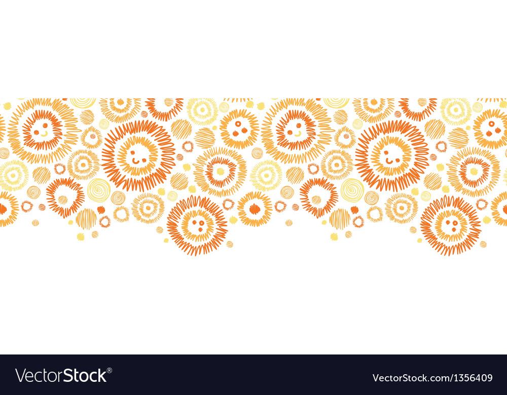 Sunny faces horizontal seamless pattern background vector | Price: 1 Credit (USD $1)