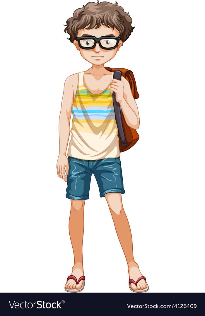 Teenage boy vector | Price: 1 Credit (USD $1)