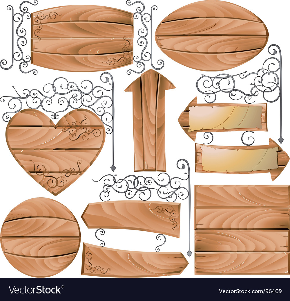 Wooden signs vector | Price: 1 Credit (USD $1)