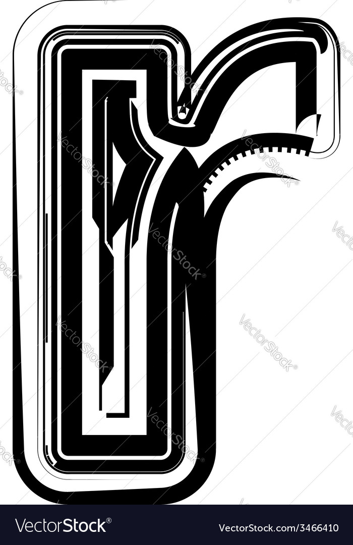 Abstract letter r vector | Price: 1 Credit (USD $1)
