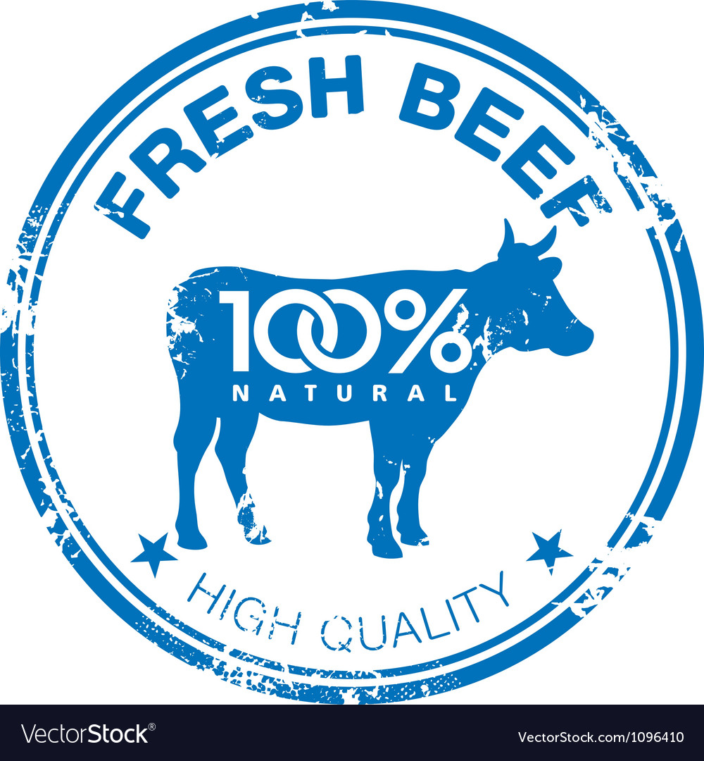 Beef stamp vector | Price: 1 Credit (USD $1)
