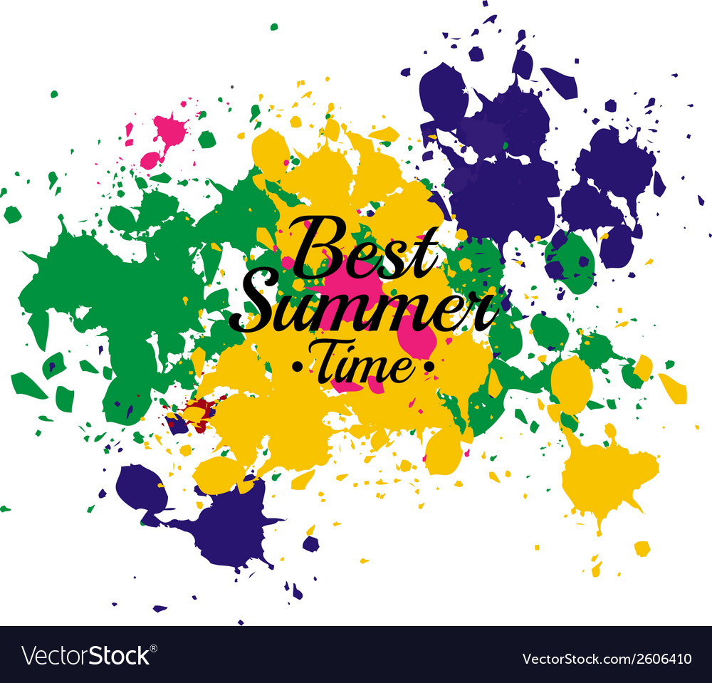Best summer 2014 water color abstract vector | Price: 1 Credit (USD $1)