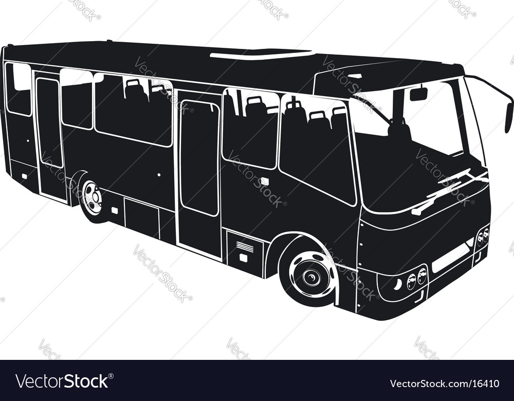 Bus silhouette vector | Price: 1 Credit (USD $1)