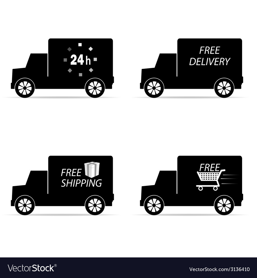Delivery icon truck and shipping vector | Price: 1 Credit (USD $1)