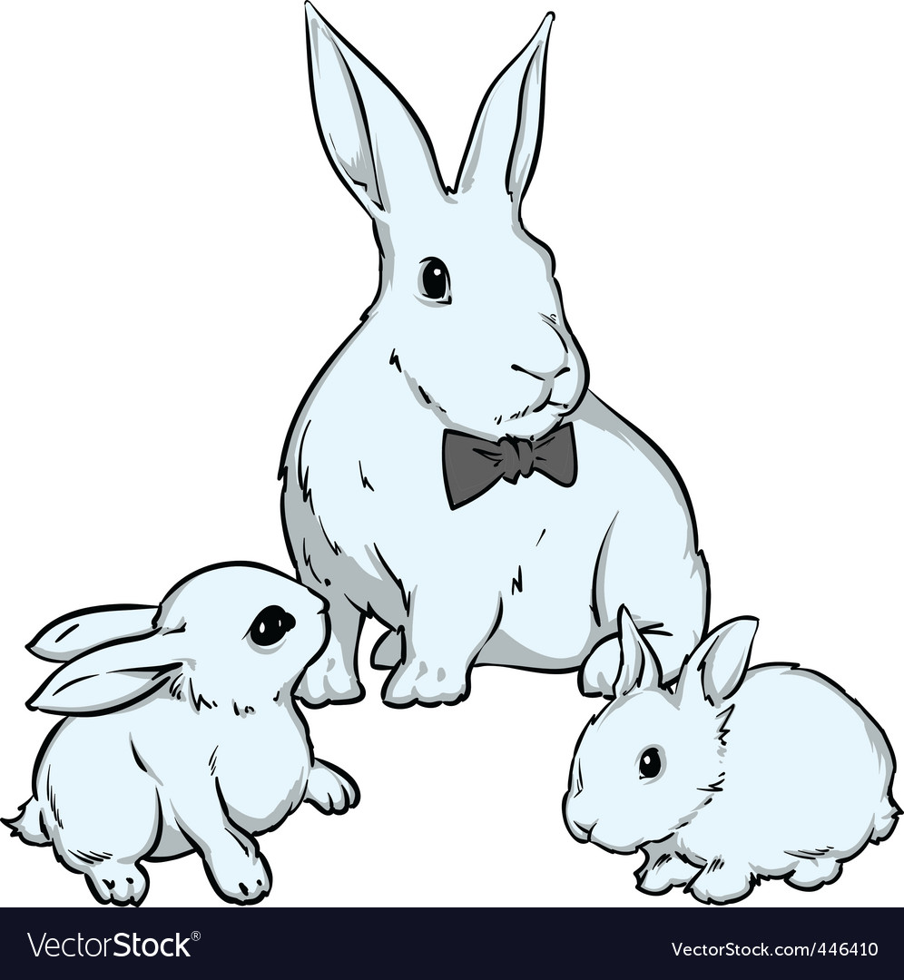 Easter bunnies vector | Price: 1 Credit (USD $1)