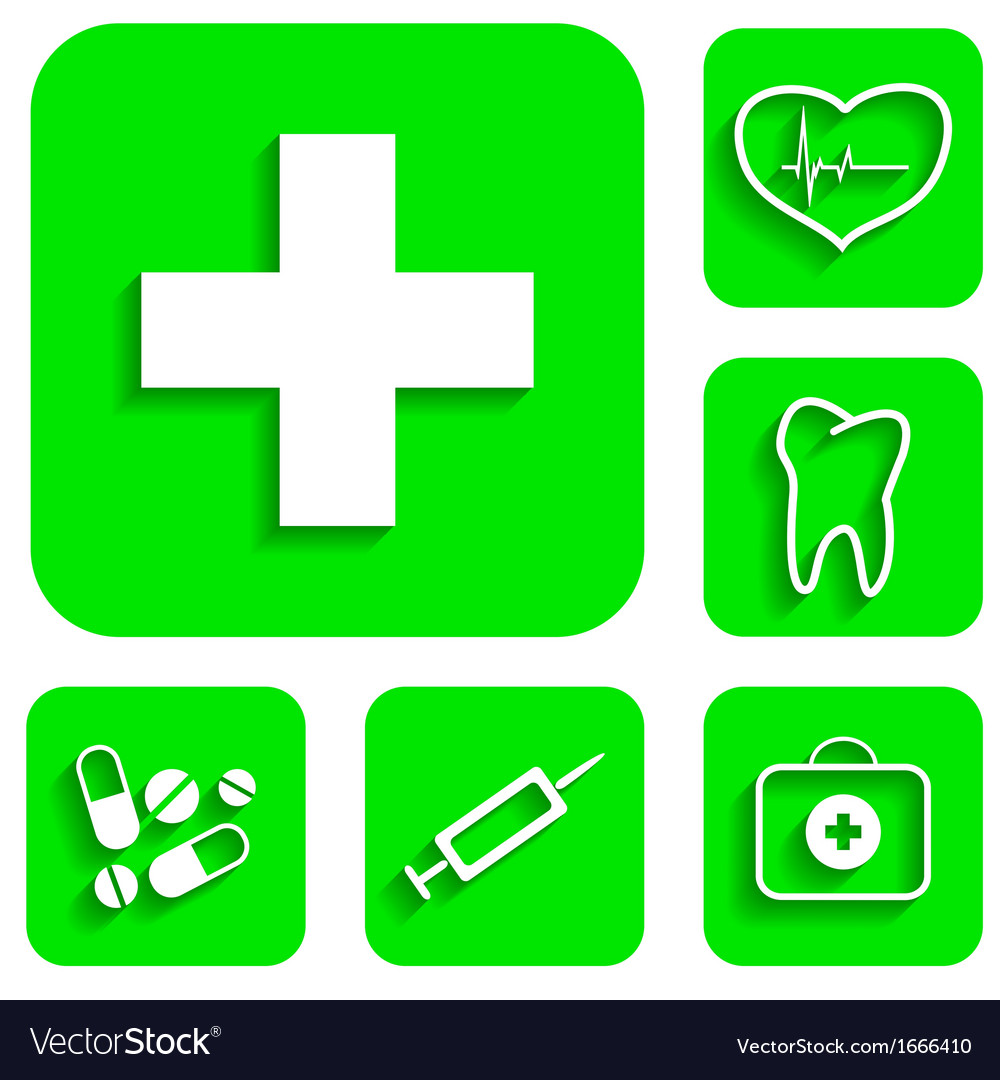 Medicine icons set vector | Price: 1 Credit (USD $1)