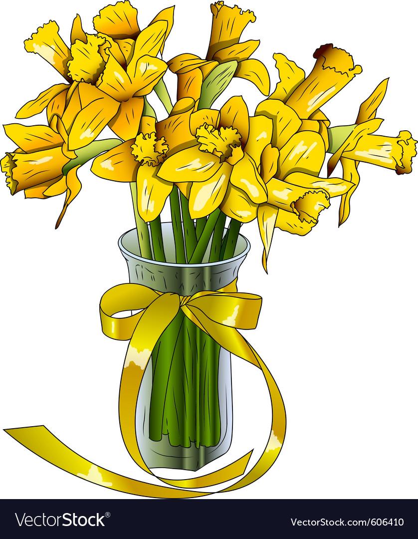Orange flower on the white vector | Price: 1 Credit (USD $1)