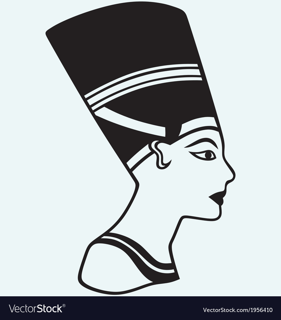 Silhouette nefertiti vector | Price: 1 Credit (USD $1)