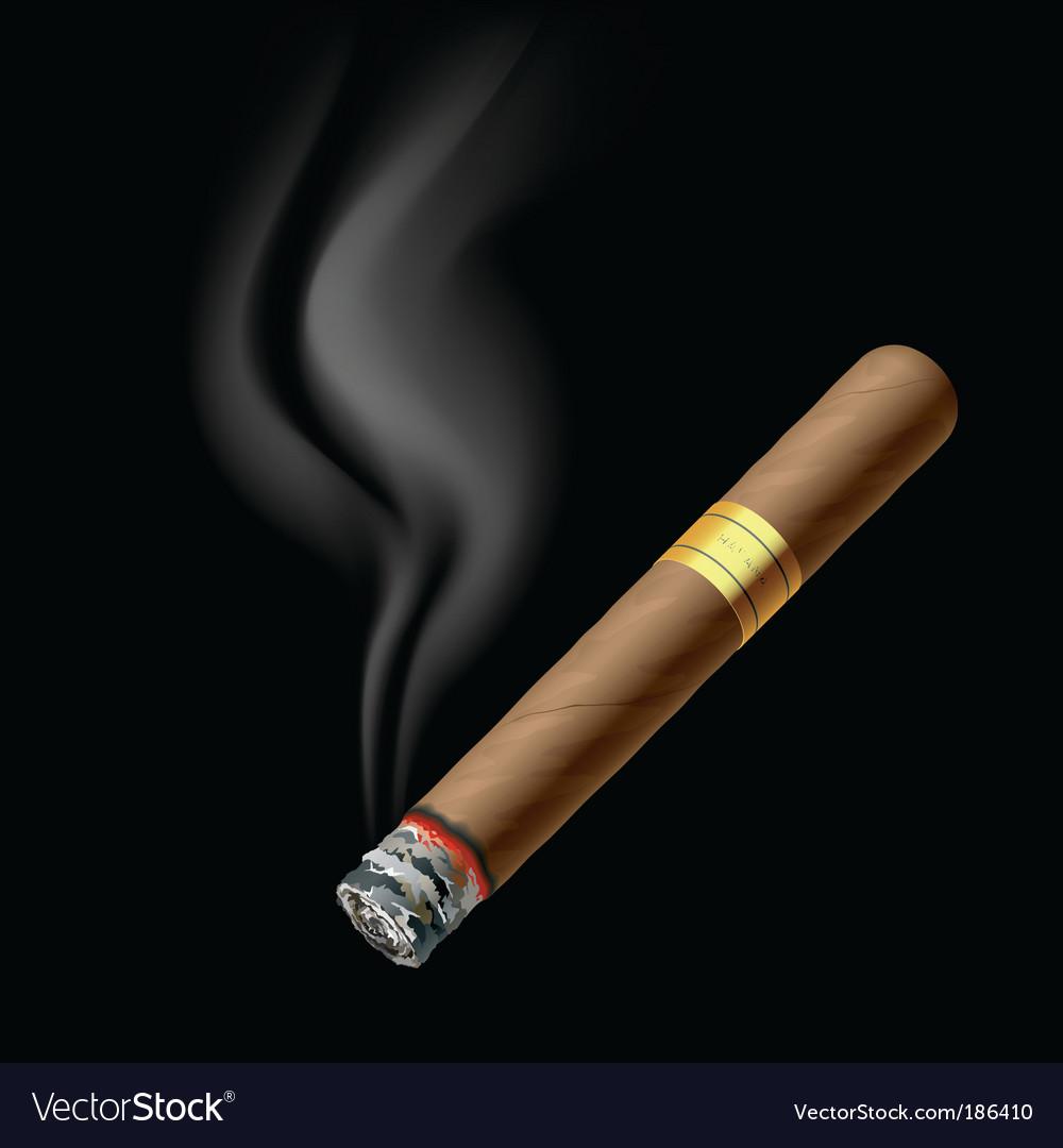 Smoldering cigar vector | Price: 1 Credit (USD $1)