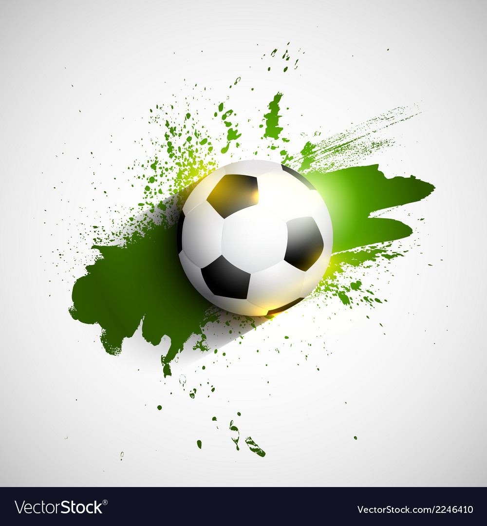 Soccer or football on a grunge background vector | Price: 1 Credit (USD $1)