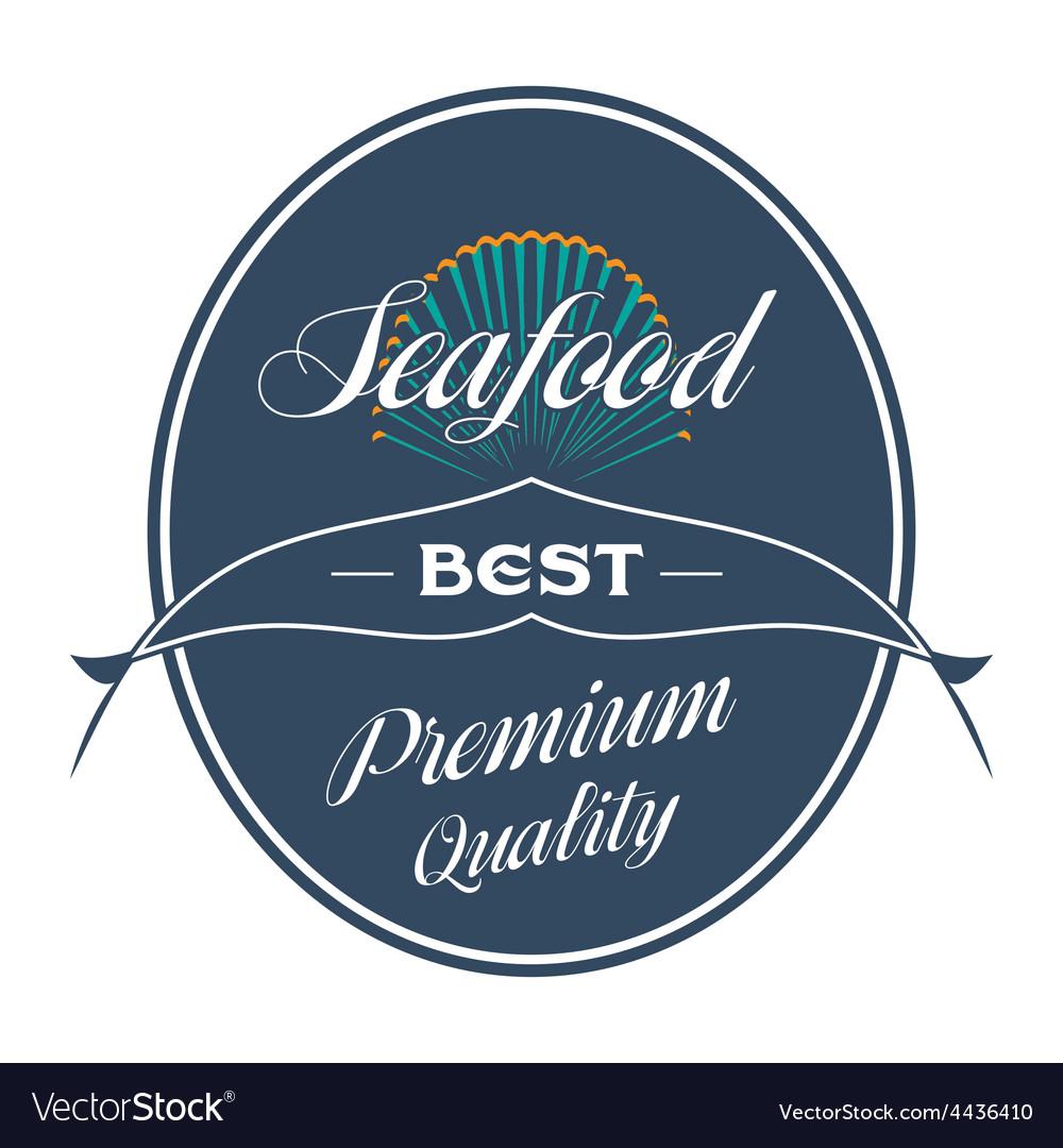 Vintage seafood label restaurant menu vector | Price: 1 Credit (USD $1)