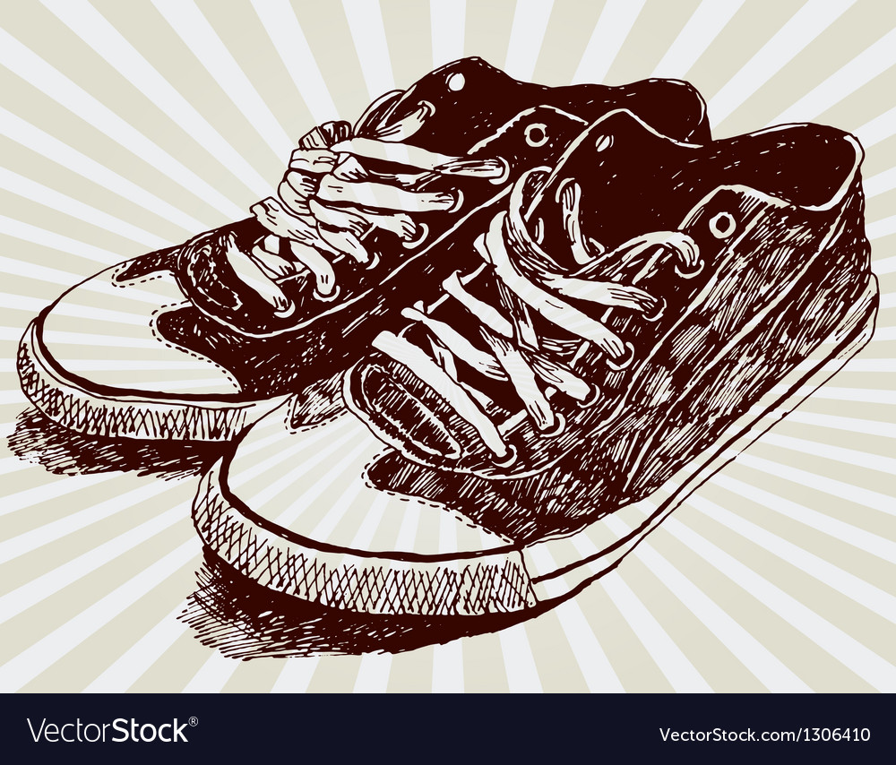 Vintage sneakers vector | Price: 1 Credit (USD $1)