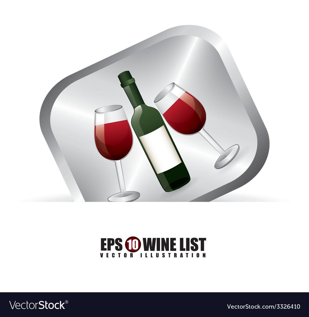 Wine design vector | Price: 1 Credit (USD $1)