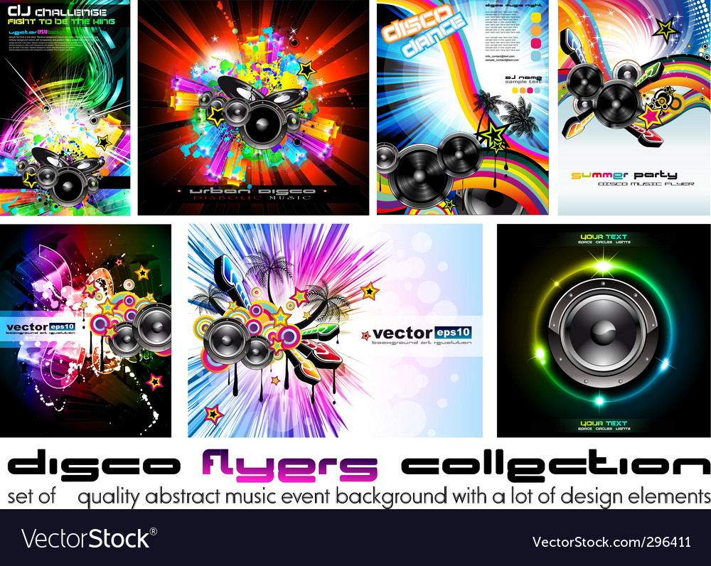 Discotheque dj flyer vector | Price: 1 Credit (USD $1)