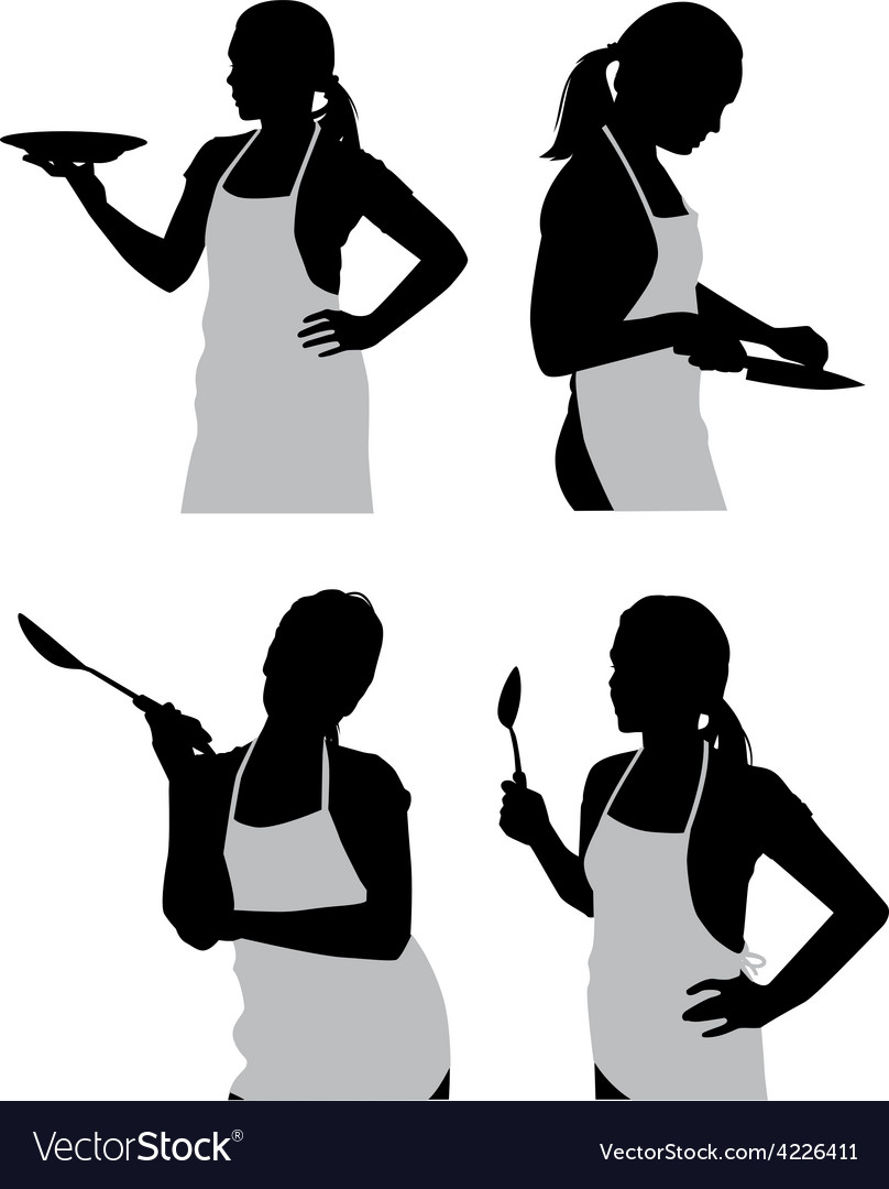 Girl in the kitchen vector | Price: 1 Credit (USD $1)