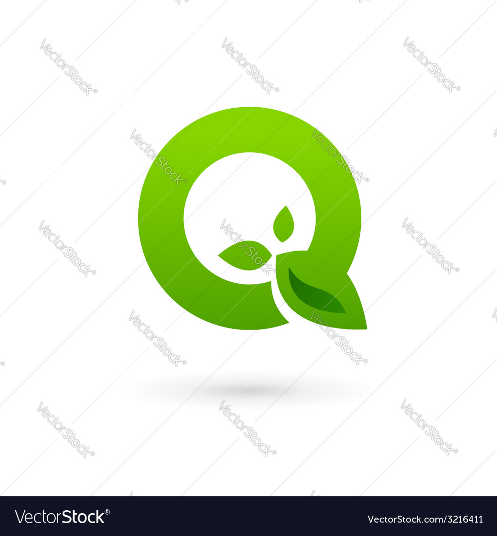 Letter q eco leaves logo icon design template vector | Price: 1 Credit (USD $1)