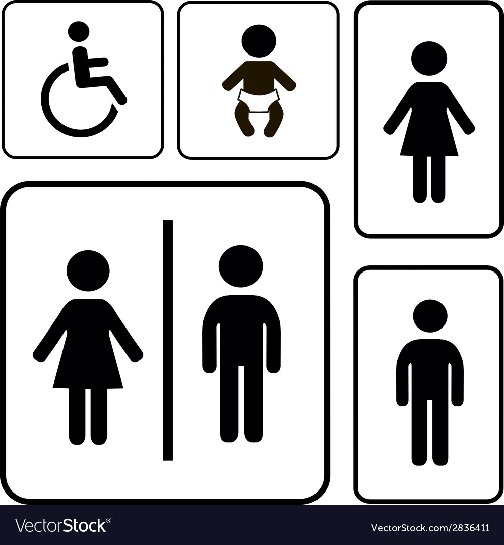 Restroom sign vector | Price: 1 Credit (USD $1)