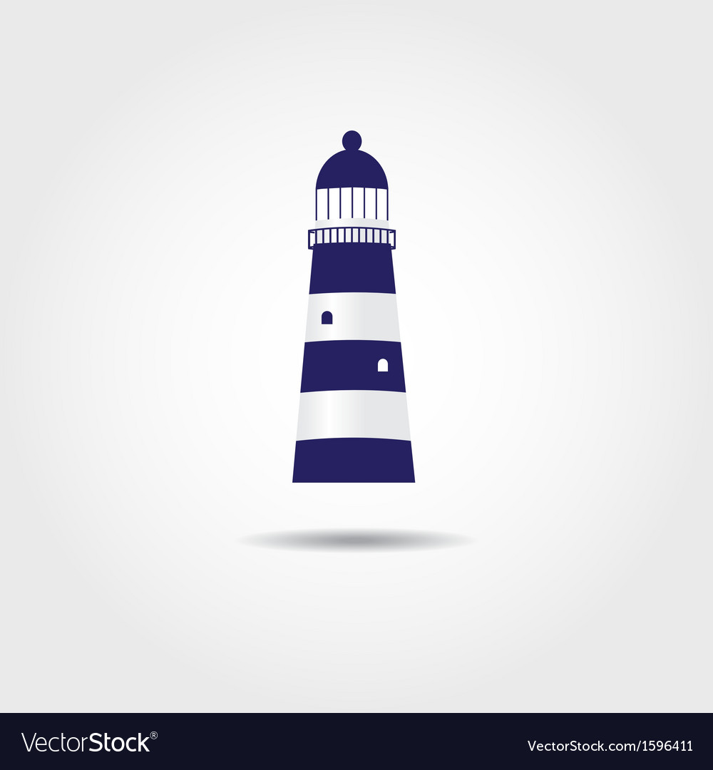 The sea and a light house vector | Price: 1 Credit (USD $1)