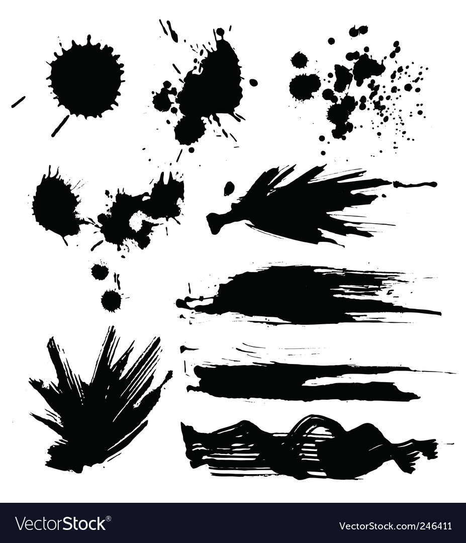 Set of blots vector | Price: 1 Credit (USD $1)