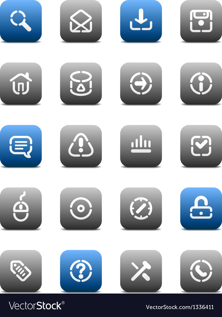 Stencil matt buttons for internet vector | Price: 1 Credit (USD $1)