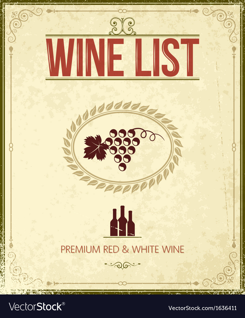 Wine vintage background vector | Price: 1 Credit (USD $1)