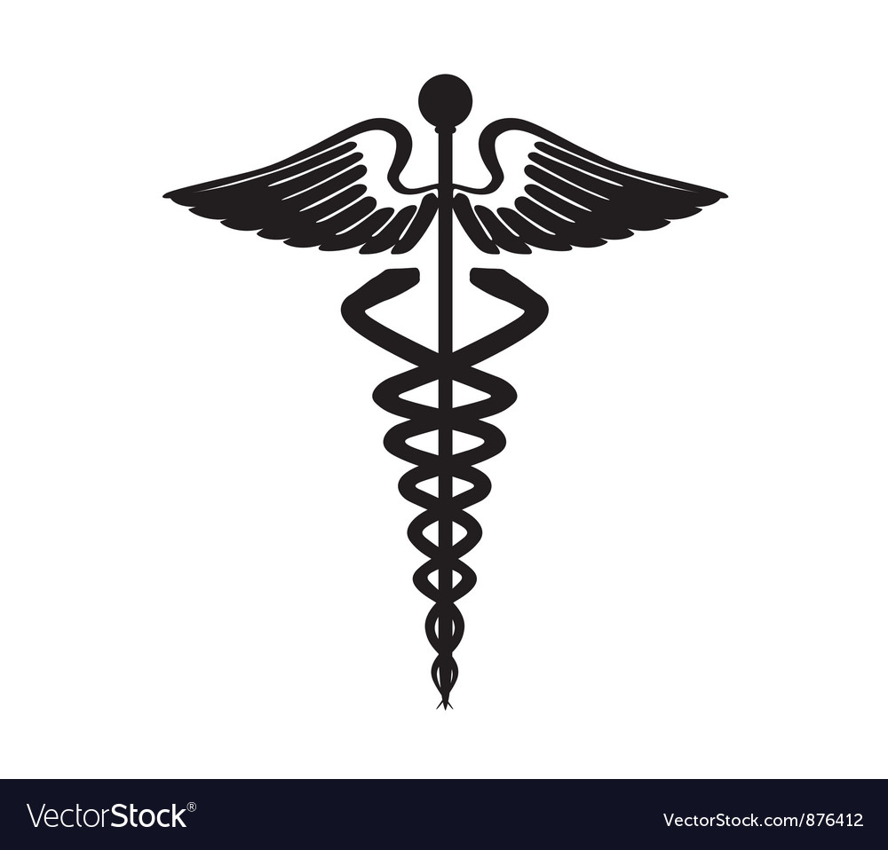 Abstract black caduceus sign vector | Price: 1 Credit (USD $1)