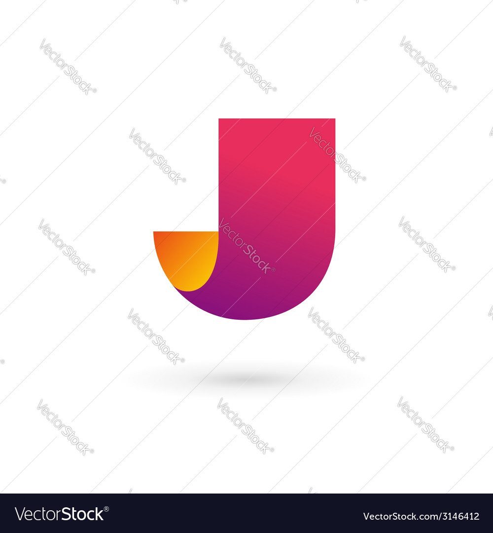 Letter j logo icon design template elements vector | Price: 1 Credit (USD $1)