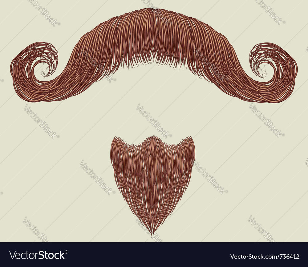 Mustache and beard vector | Price: 1 Credit (USD $1)