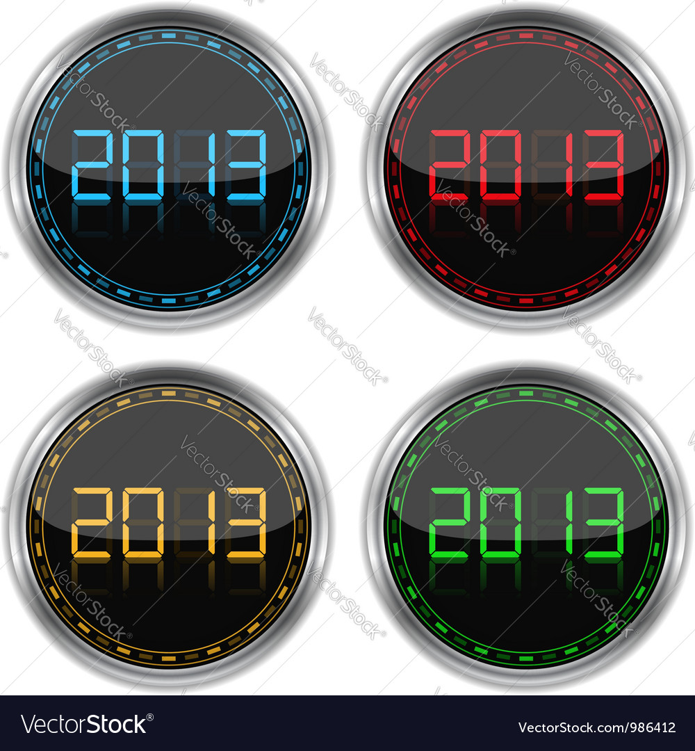 Round badges with number 2013 vector   Price: 1 Credit (USD $1)
