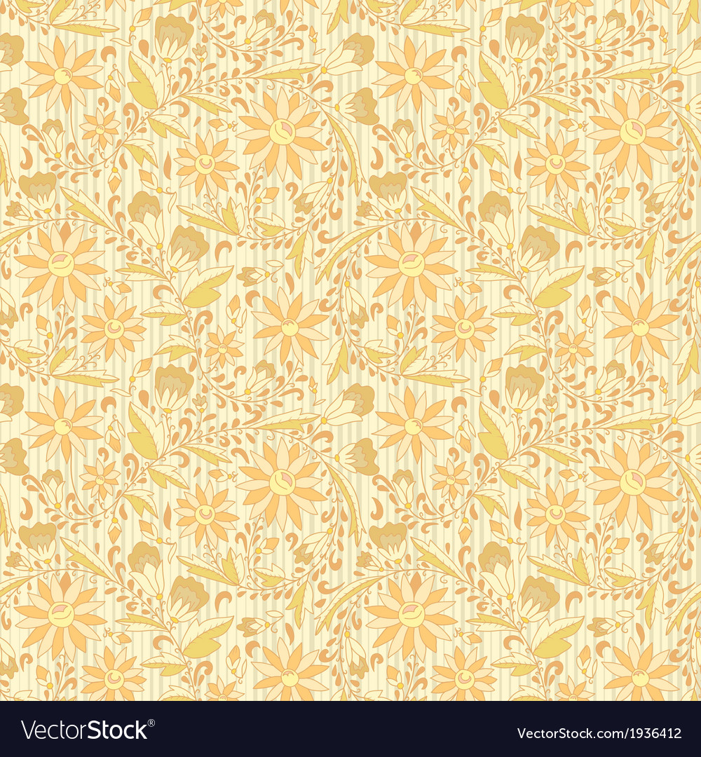 Seamless ornament floral beige neutral background vector | Price: 1 Credit (USD $1)