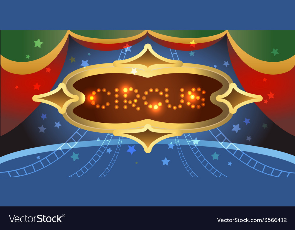Shining circus poster vector | Price: 1 Credit (USD $1)