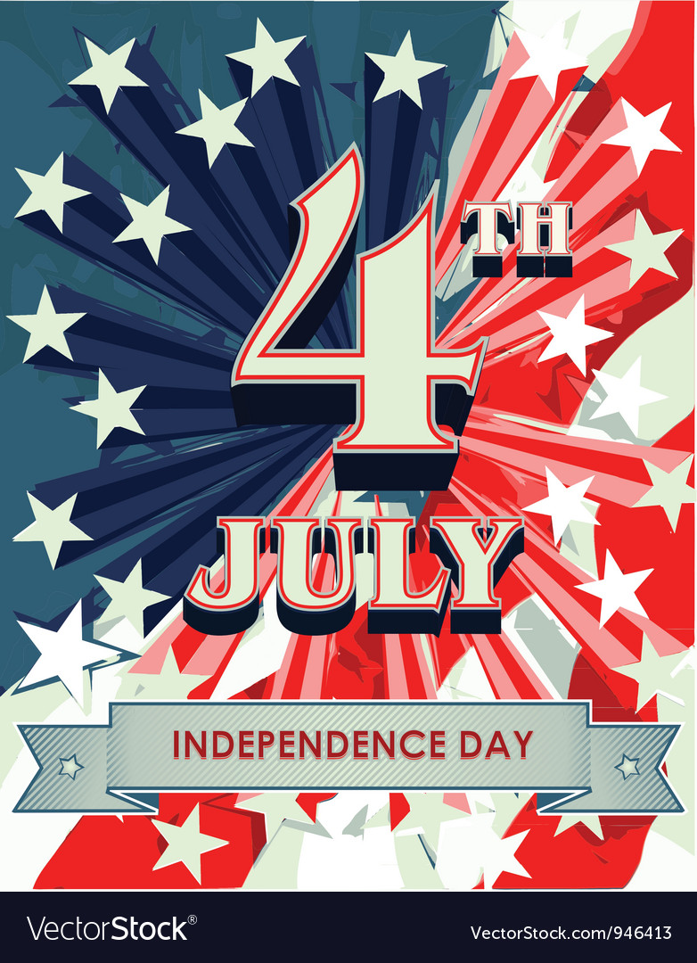 4th july vector | Price: 1 Credit (USD $1)